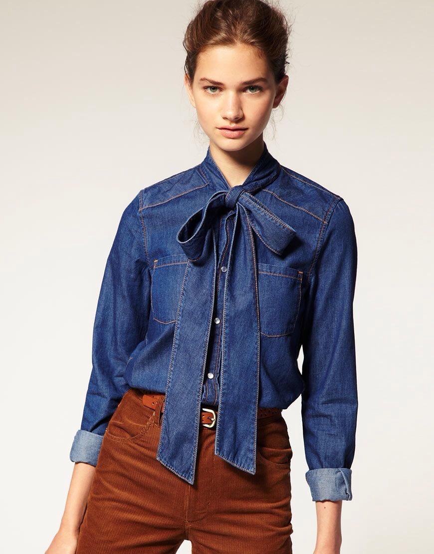 camicia in denim- personal shopper genova