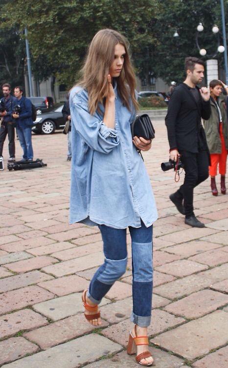 maxi camicia in denim- personal shopper genova
