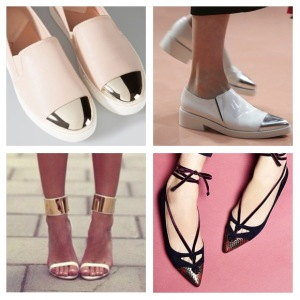 Trends metallic shoes zazzyglam